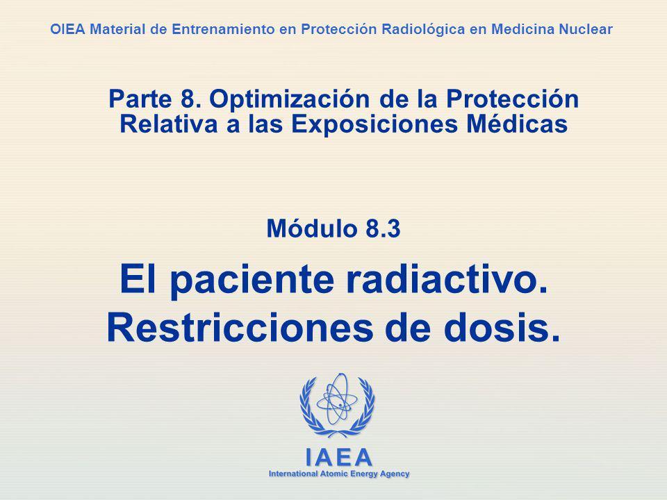 IAEA International Atomic Energy Agency OIEA Material de Entrenamiento en Protección Radiológica en Medicina Nuclear Parte 8.