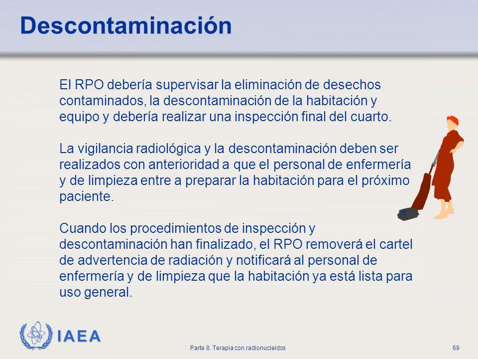 Baño General De Un Paciente En Ducha:Agency OIEA Material de Entrenamiento en Protección Radiológica en