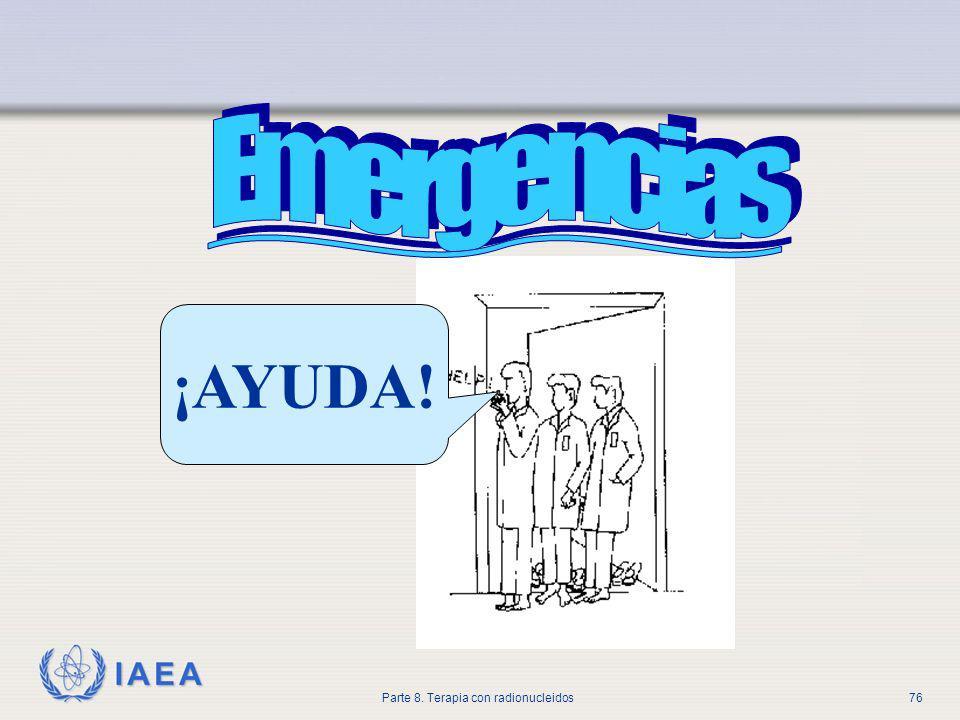 IAEA Parte 8. Terapia con radionucleidos76 ¡AYUDA!