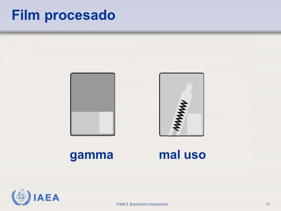 IAEA Parte 5. Exposición ocupacional 77 Film procesado gammamal uso