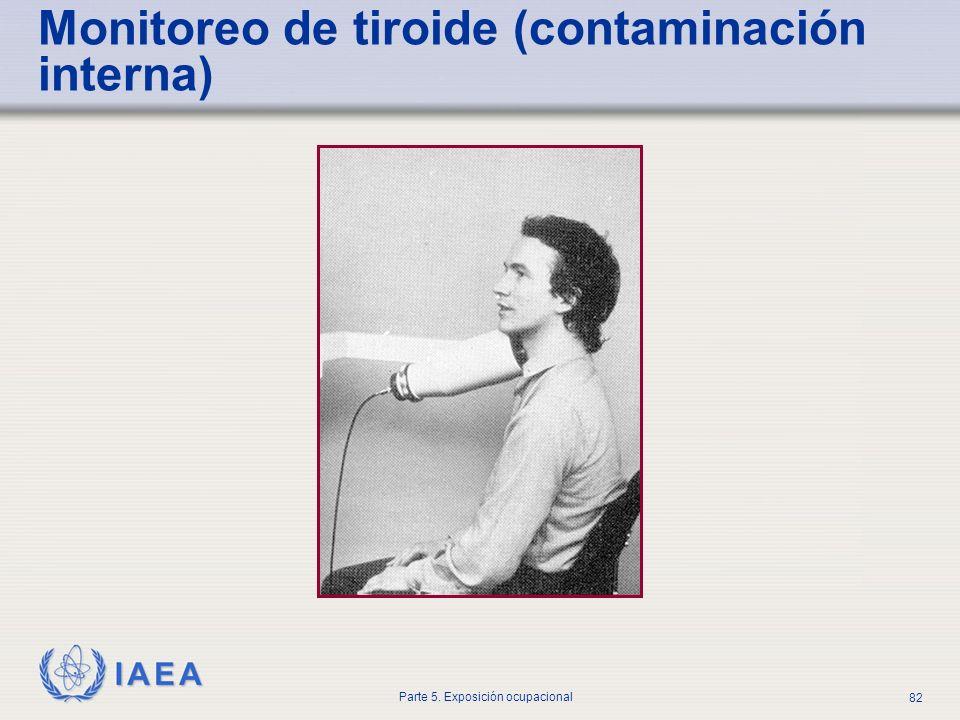IAEA Parte 5. Exposición ocupacional 82 Monitoreo de tiroide (contaminación interna)
