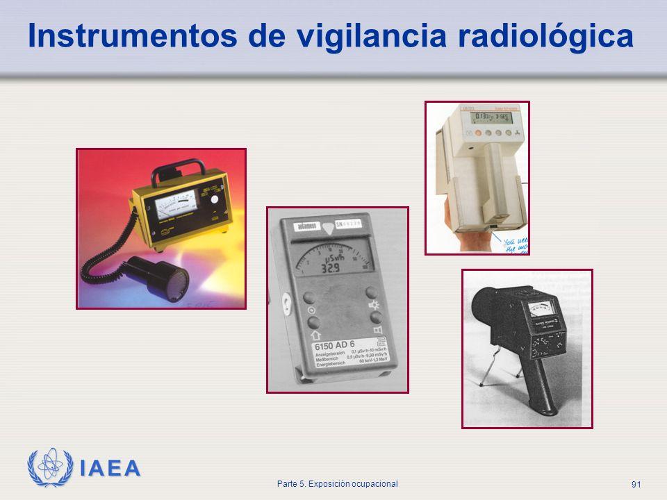 IAEA Parte 5. Exposición ocupacional 91 Instrumentos de vigilancia radiológica