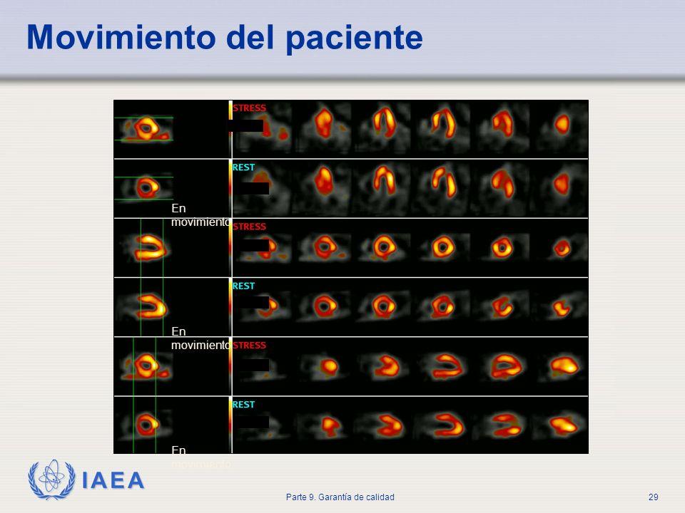 IAEA Parte 9. Garantía de calidad29 Movimiento del paciente En movimiento
