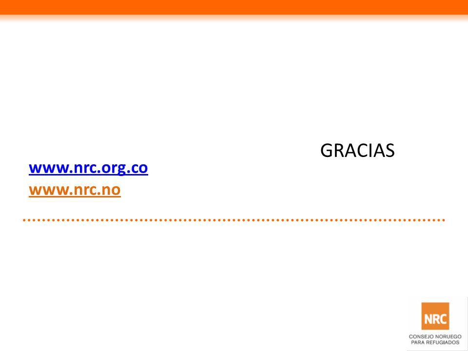 GRACIAS www.nrc.org.co www.nrc.no