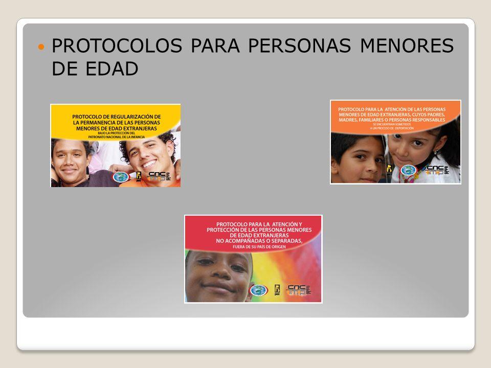 PROTOCOLOS PARA PERSONAS MENORES DE EDAD