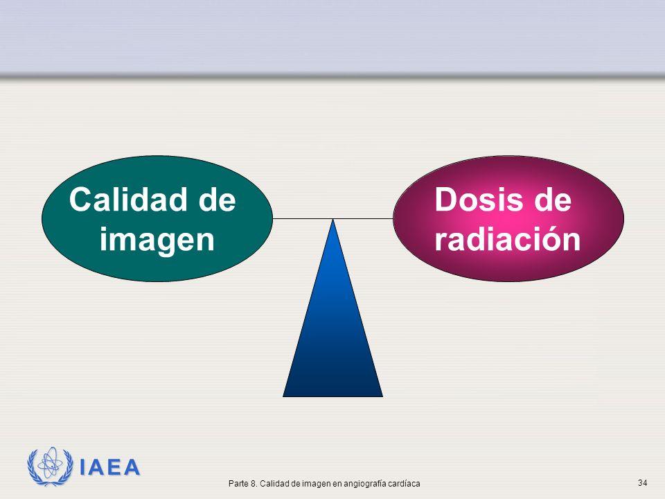 IAEA Dosis de radiación Calidad de imagen Parte 8. Calidad de imagen en angiografía cardíaca 34