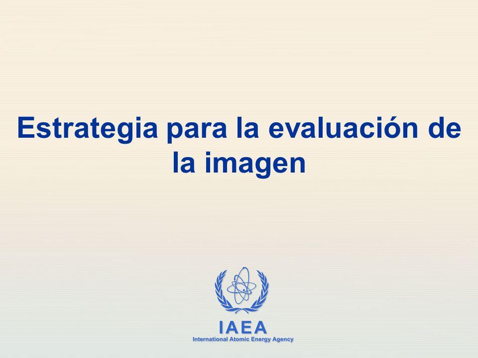 IAEA International Atomic Energy Agency Estrategia para la evaluación de la imagen