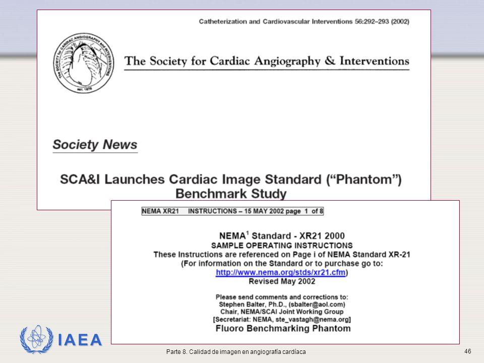 IAEA Parte 8. Calidad de imagen en angiografía cardíaca 46