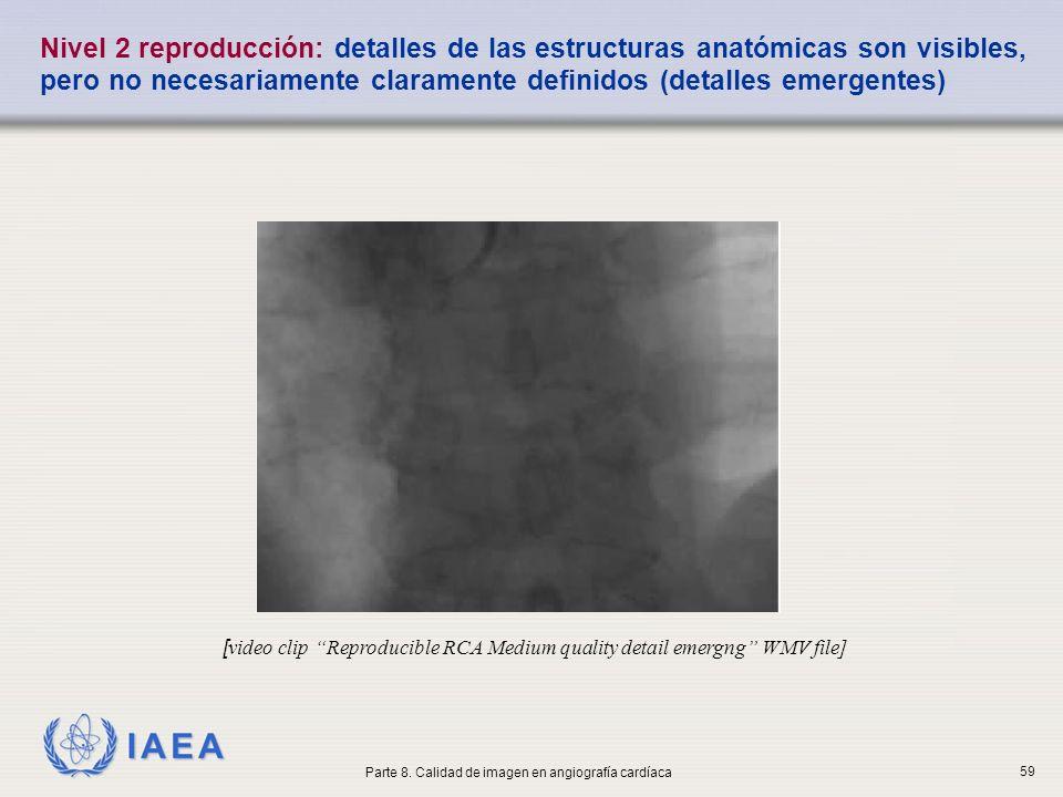 IAEA Nivel 2 reproducción: detalles de las estructuras anatómicas son visibles, pero no necesariamente claramente definidos (detalles emergentes) [ vi
