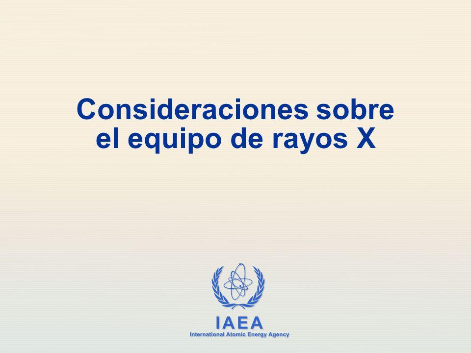 IAEA Equipo de rayos X para cardiología pediátrica El generador debe tener el poder suficiente como para permitir tiempos de exposición cortos (3 milisegundos) Los pulsos de fluoroscopia son producidos durante una pequeña porción de tiempo del cuadro de video.