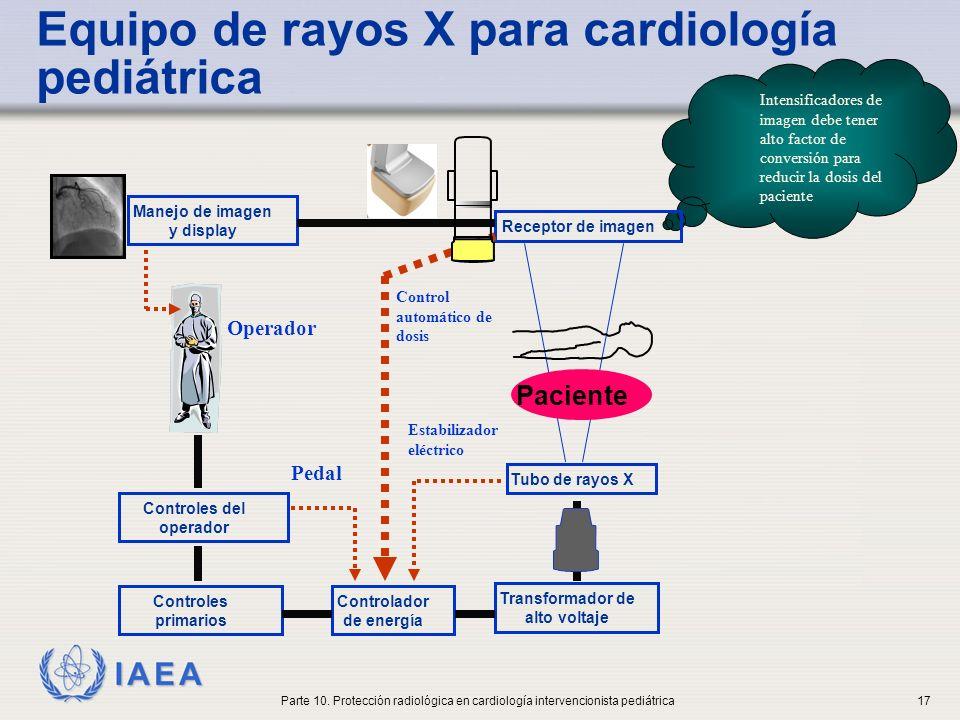 IAEA Rejilla antidifusora La rejilla antidifusora en pediatría ofrece mejoras limitadas en la calidad de la imagen y aumenta la dosis del paciente, dado el volumen irradiado más pequeño (y el peso) la radiación dispersada es menor Parte 10.