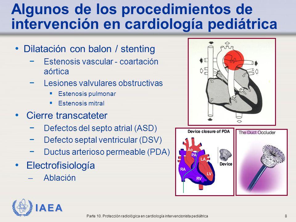 IAEA Tendencias en la cardiología intervencionista pediátrica Futuro de la cardiología intervencionista en pediatría Levi DS, Alejos JC, Moore JW.