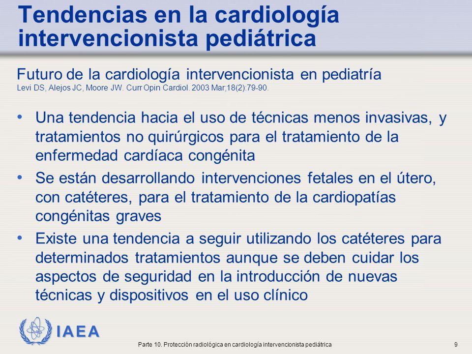 IAEA Exposición a la radiación para niños en varias intervenciones (I) La oclusión del PDA (patent ductus arteriosus) y otras intervenciones pediatricas complejas han planteado preocupación sobre la exposición a radiación No existe correlación entre el tiempo de fluoro y la dosis media en entrada.