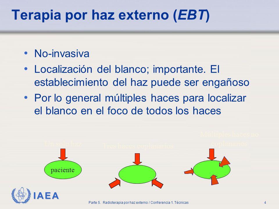 IAEA Parte 5. Radioterapia por haz externo / Conferencia 1. Técnicas35 Geometría isocéntrica