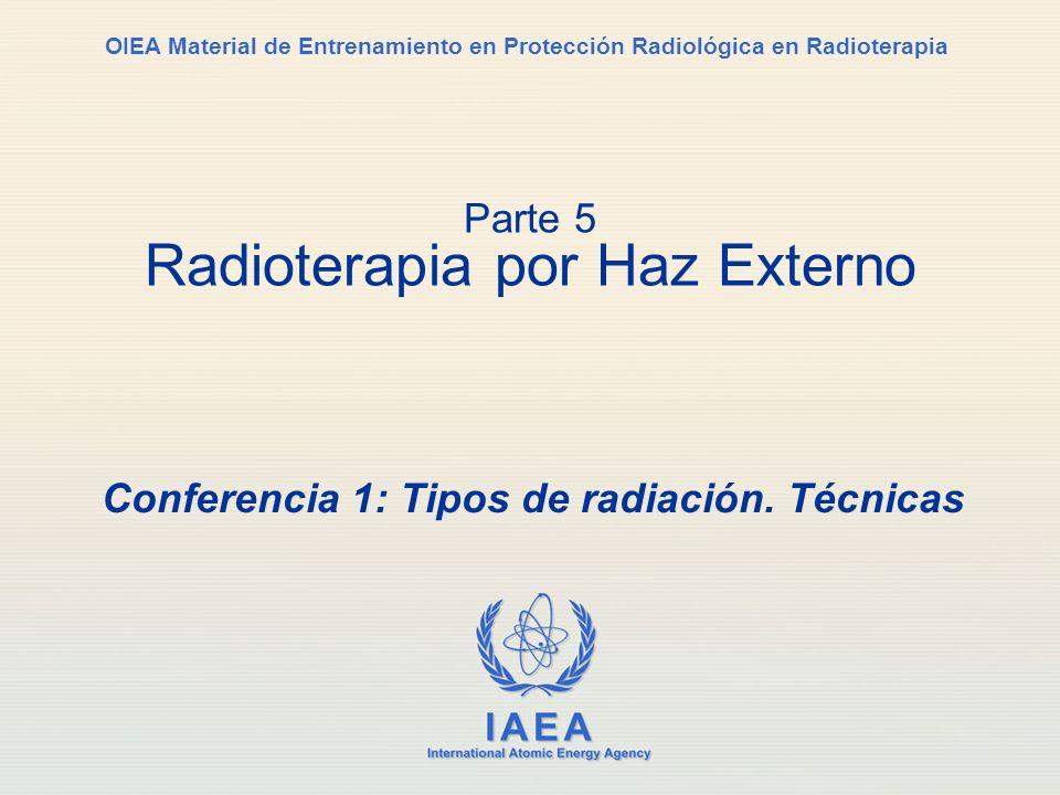 IAEA International Atomic Energy Agency OIEA Material de Entrenamiento en Protección Radiológica en Radioterapia Conferencia 1: Tipos de radiación. Té