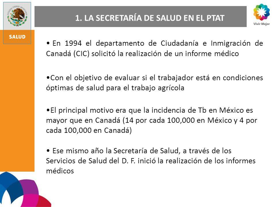 En 1994 el departamento de Ciudadanía e Inmigración de Canadá (CIC) solicitó la realización de un informe médico Con el objetivo de evaluar si el trab