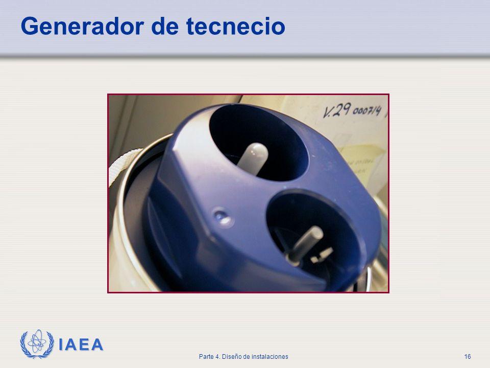 IAEA Parte 4. Diseño de instalaciones16 Generador de tecnecio