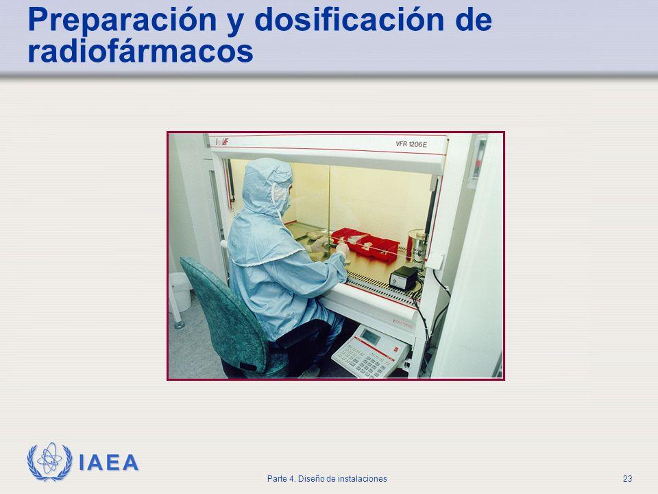 IAEA Parte 4. Diseño de instalaciones23 Preparación y dosificación de radiofármacos
