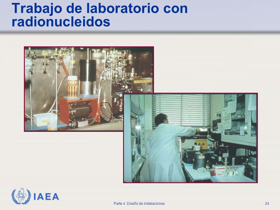 IAEA Parte 4. Diseño de instalaciones24 Trabajo de laboratorio con radionucleidos