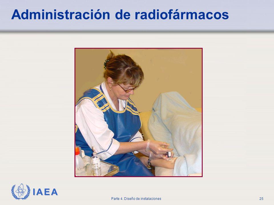 IAEA Parte 4. Diseño de instalaciones25 Administración de radiofármacos