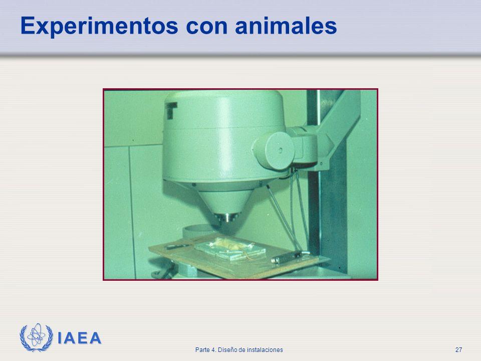 IAEA Parte 4. Diseño de instalaciones27 Experimentos con animales