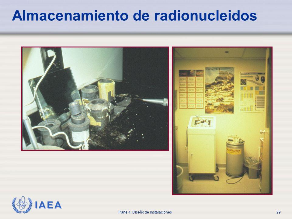 IAEA Parte 4. Diseño de instalaciones29 Almacenamiento de radionucleidos