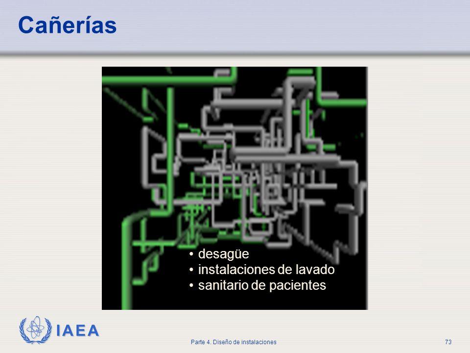 IAEA Parte 4. Diseño de instalaciones73 Cañerías desagüe instalaciones de lavado sanitario de pacientes
