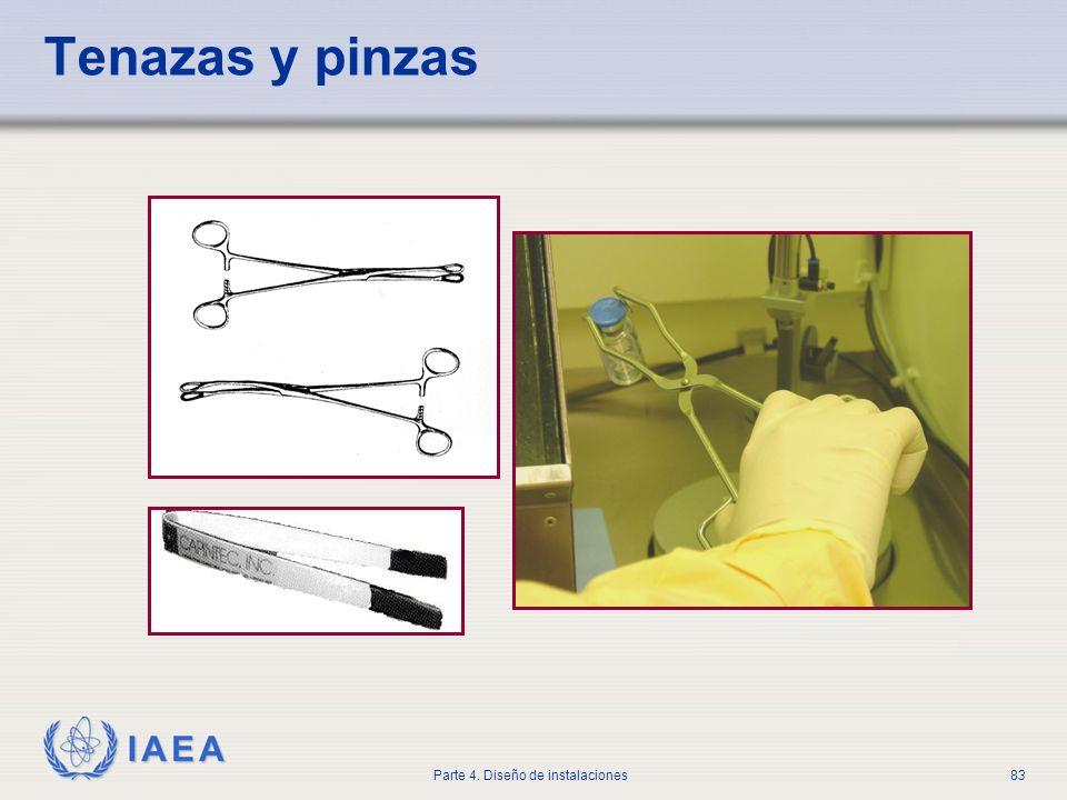IAEA Parte 4. Diseño de instalaciones83 Tenazas y pinzas