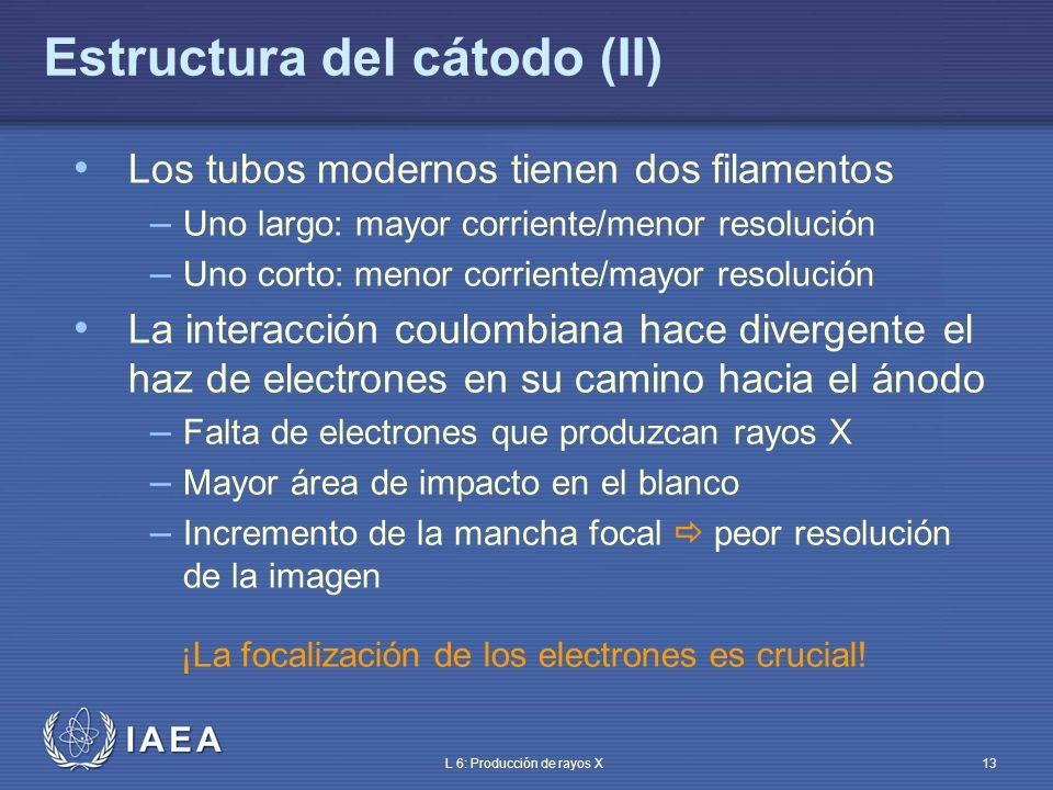 IAEA International Atomic Energy Agency Parte 6: Producción de rayos X Tema 3: Estructura del ánodo Material de entrenamiento del OIEA sobre protección radiológica en radiodiagnóstico y en radiología intervencionista