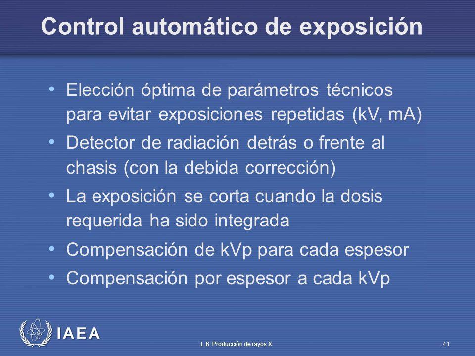 IAEA International Atomic Energy Agency Parte 6: Producción de rayos X Tema 7: Modos de operación del equipo de rayos X Material de entrenamiento del OIEA sobre protección radiológica en radiodiagnóstico y en radiología intervencionista