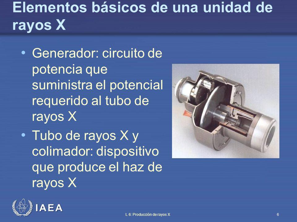 IAEA L 6: Producción de rayos X7 Tubos de rayos X