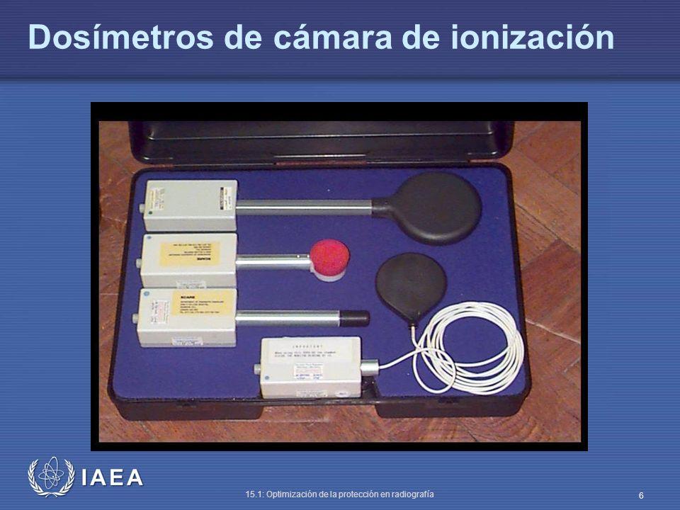 IAEA 15.1: Optimización de la protección en radiografía 7 Exactitud en el kVp Antes de hacer medidas, se debe saber qué significa kVp Hay 3 definiciones de kV, solo una es comúnmente usada PRECAUCIÓN: algunas unidades de rayos X móviles usan un condensador, y el kVp disminuye durante la exposición