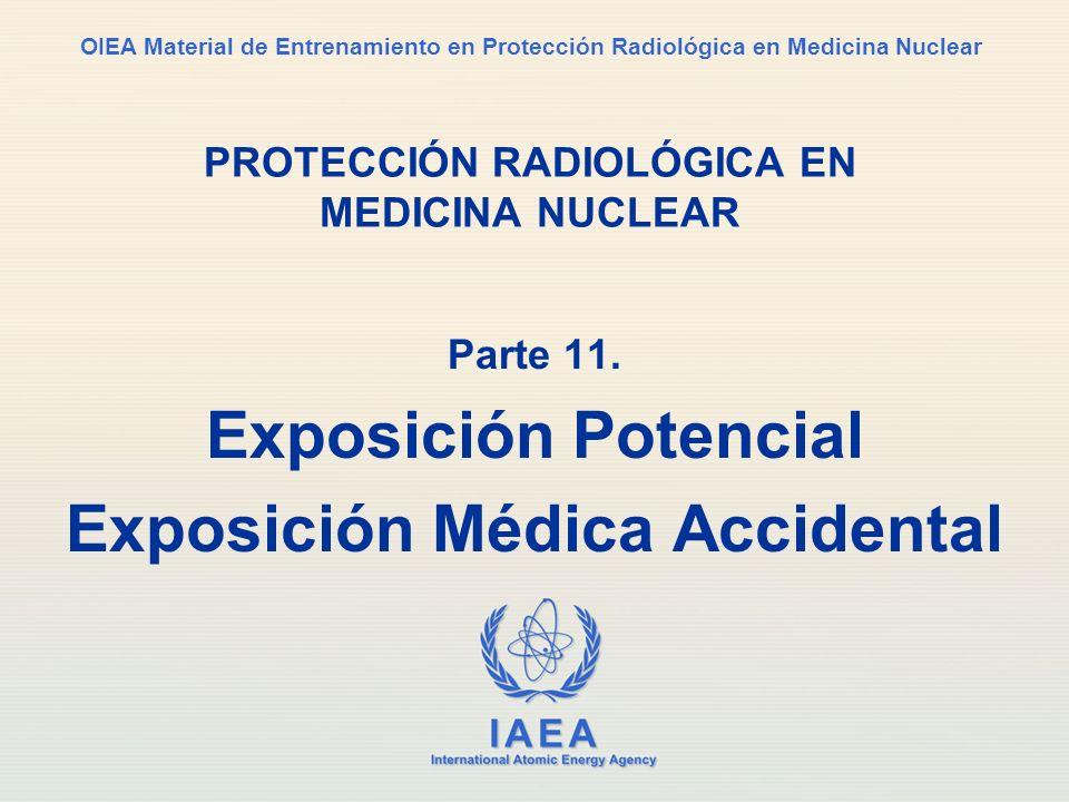 IAEA Parte 11.Exposición potencial21 Contacte al RPO por instrucciones específicas.