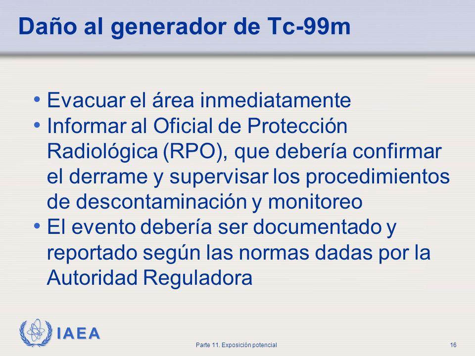 IAEA Parte 11. Exposición potencial15 Analice todas las posibilidades dentro del hospital. Si todavía no es encontrado, llame a la compañía e infórmel
