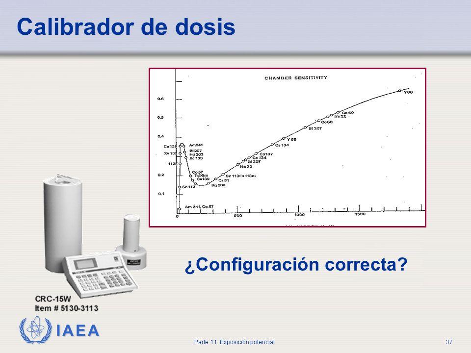 IAEA Parte 11. Exposición potencial36 Error en la administración - actividad incorrecta A un paciente se le debía administrar 259 MBq I-131. El radiof