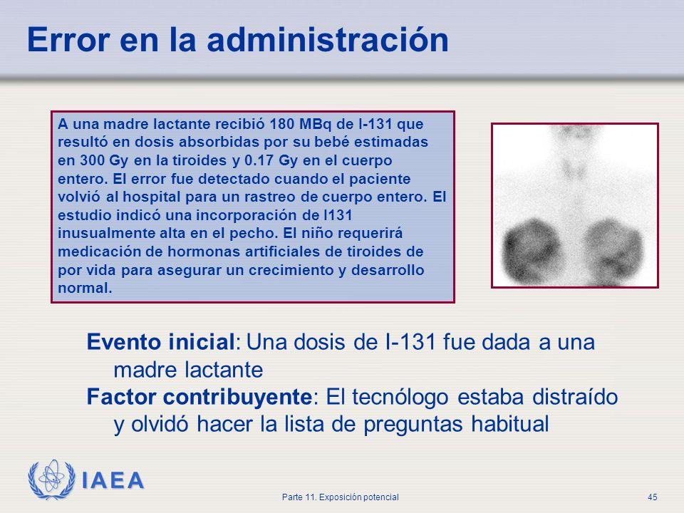 IAEA Parte 11. Exposición potencial44 SI CREE QUE PUEDE ESTAR EMBARAZADA, NOTIFIQUE AL PERSONAL ANTES DEL TRATAMIENTO