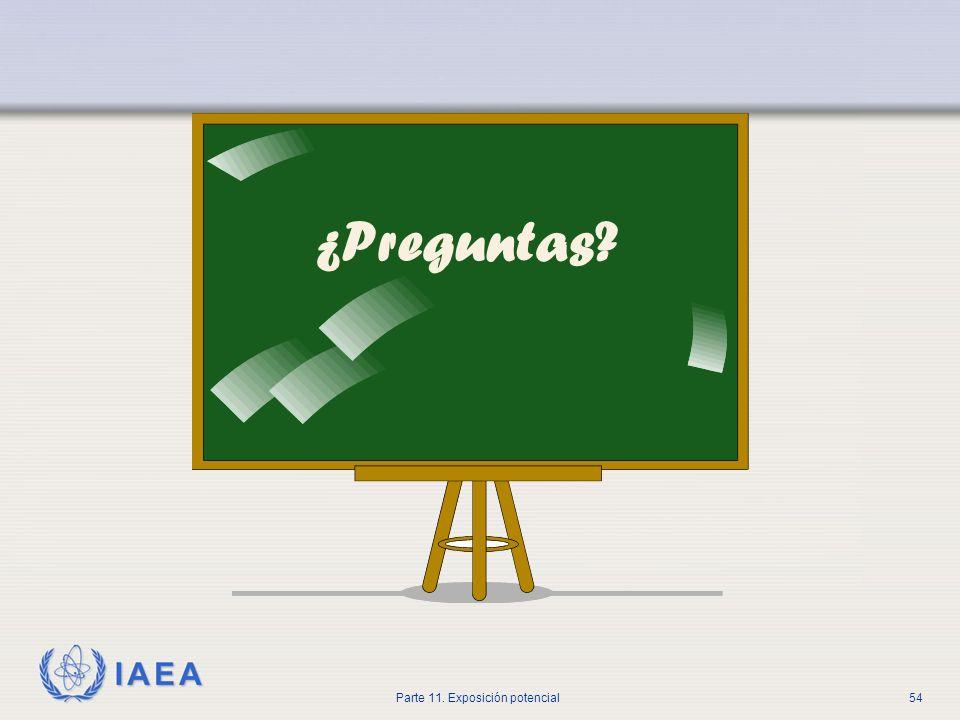 IAEA Parte 11. Exposición potencial53 Conclusiones Los errores en la administración de radiofármacos no deberían ser caracterizados como errores human