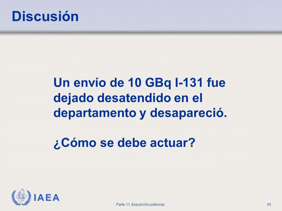 IAEA Parte 11. Exposición potencial54 ¿Preguntas?