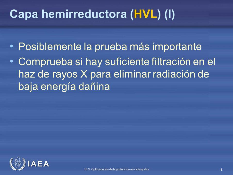 IAEA 15.3: Optimización de la protección en radiografía 5 ¿Cuál es el equipamiento mínimo necesario.