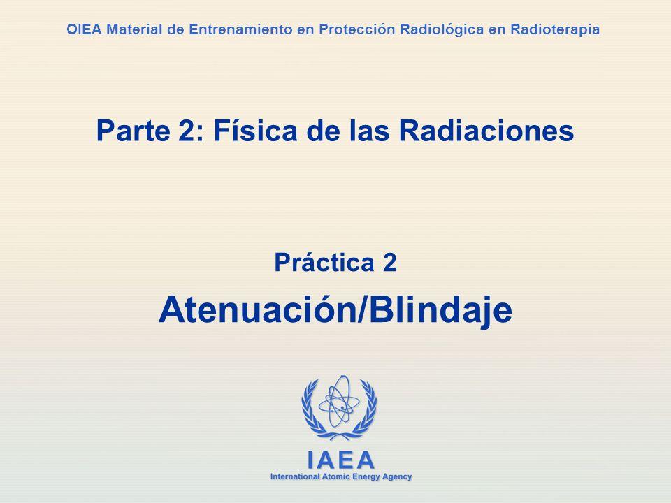 IAEA International Atomic Energy Agency OIEA Material de Entrenamiento en Protección Radiológica en Radioterapia Parte 2: Física de las Radiaciones Pr