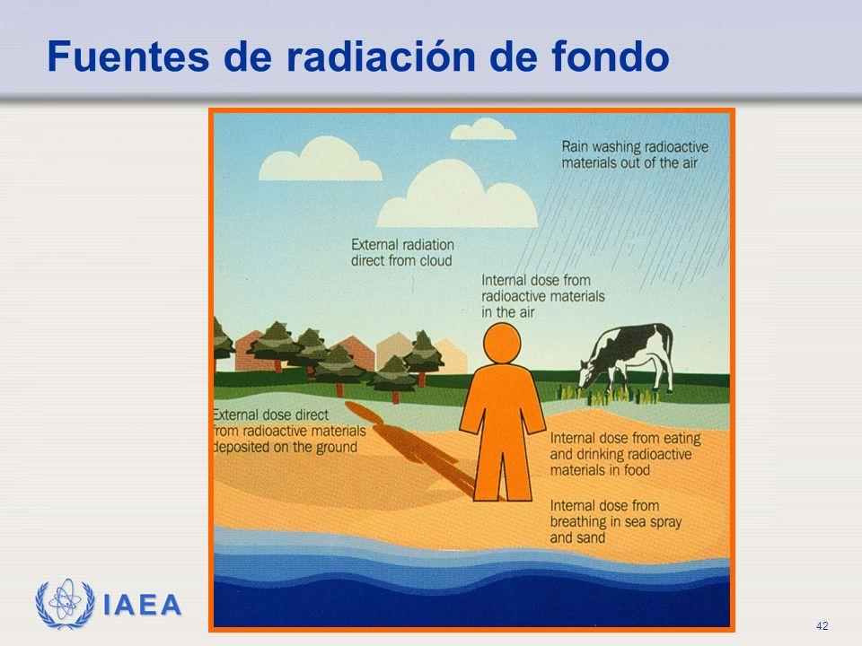 IAEA Title of Lecture42 Fuentes de radiación de fondo