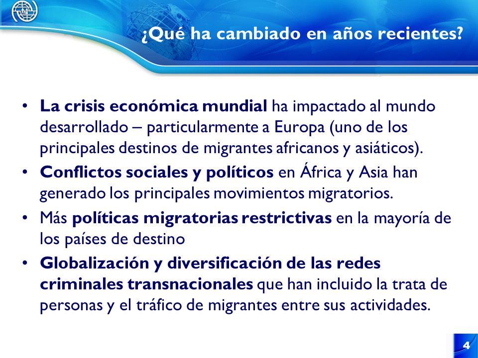 CA y México no han recibido flujos migratorios significtivos de África o Asia desde inicios del siglo XX.