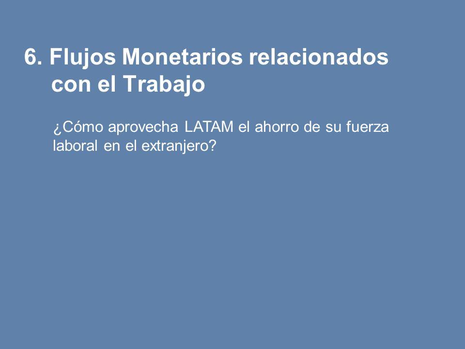 6. Flujos Monetarios relacionados con el Trabajo ¿Cómo aprovecha LATAM el ahorro de su fuerza laboral en el extranjero?