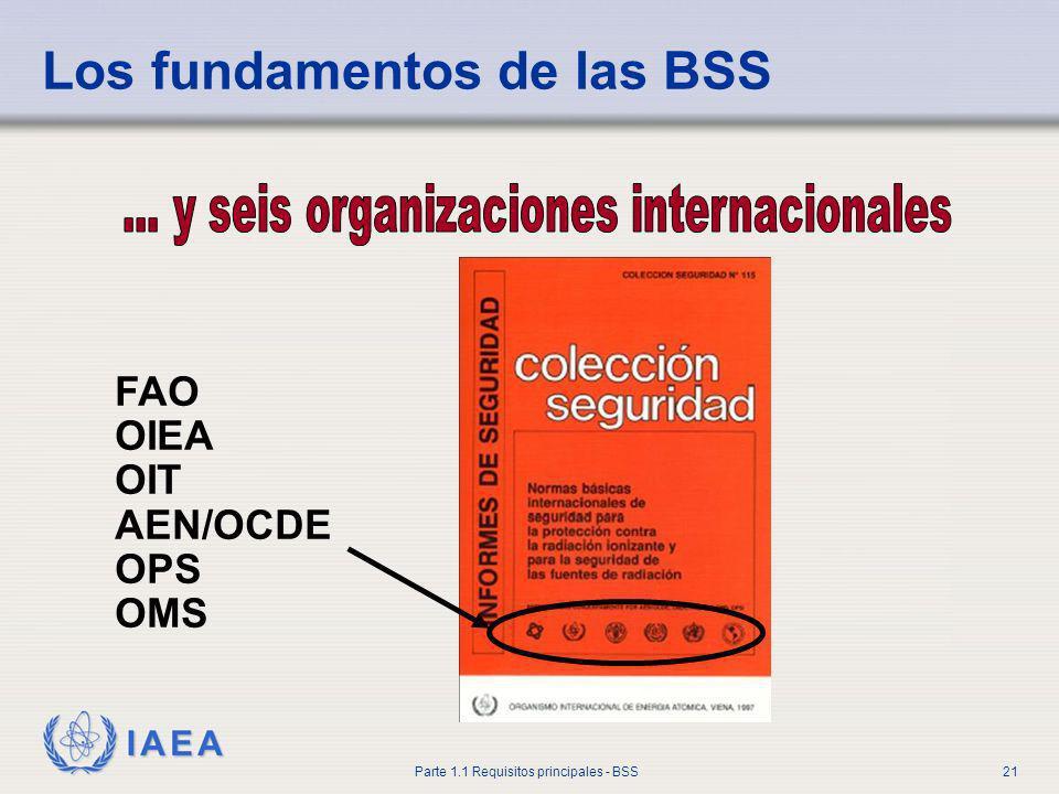 IAEA Parte 1.1 Requisitos principales - BSS21 Los fundamentos de las BSS FAO OIEA OIT AEN/OCDE OPS OMS