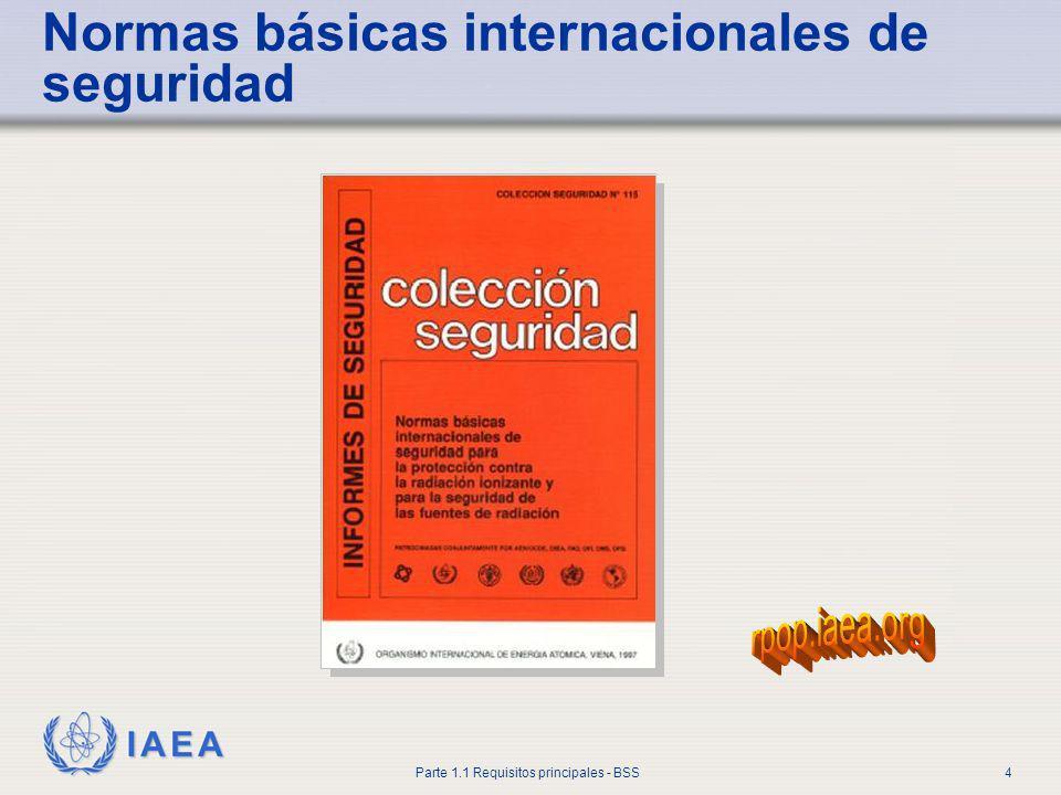 IAEA Parte 1.1 Requisitos principales - BSS4 Normas básicas internacionales de seguridad