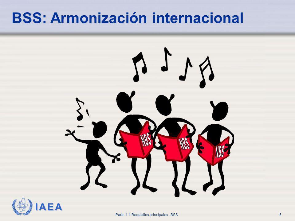 IAEA Parte 1.1 Requisitos principales - BSS5 BSS: Armonización internacional