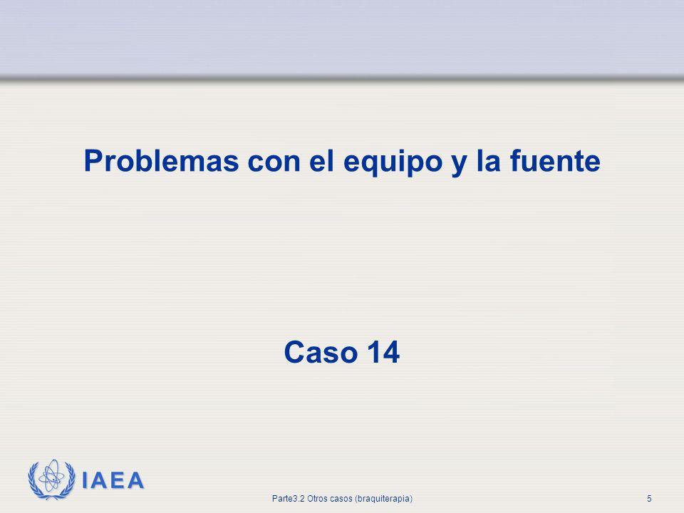 IAEA Parte 3.2.Otros casos (braquiterapia)16 Planificación del tratamiento y cálculos de dosis 17.