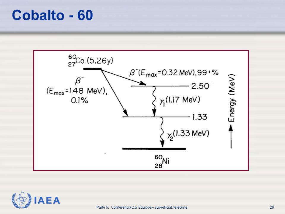 IAEA Parte 5. Conferencia 2.a Equipos – superficial, telecurie28 Cobalto - 60