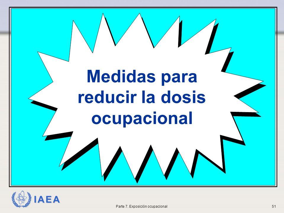 IAEA Medidas para reducir la dosis ocupacional Parte 7. Exposición ocupacional51