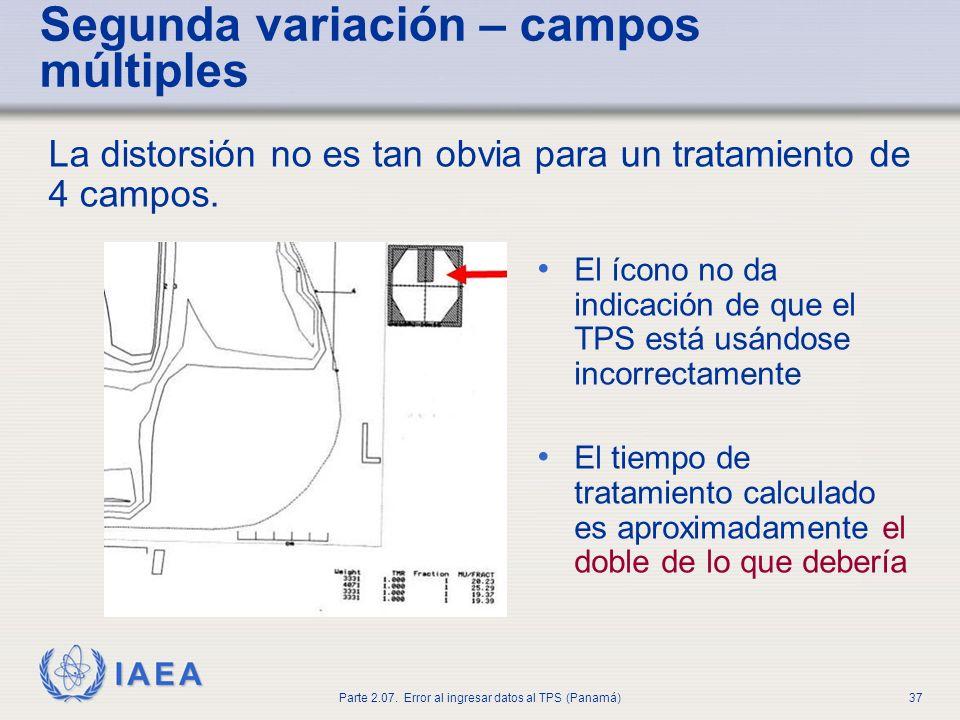 IAEA Parte 2.07. Error al ingresar datos al TPS (Panamá)38 Segunda variación – campos múltiples